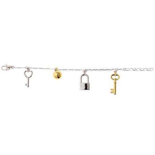 Bracciale argento con charms chiavi e lucchetto Facco Gioielli