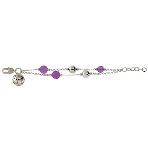 Bracciale argento con charm e cristalli colorati Facco Gioielli