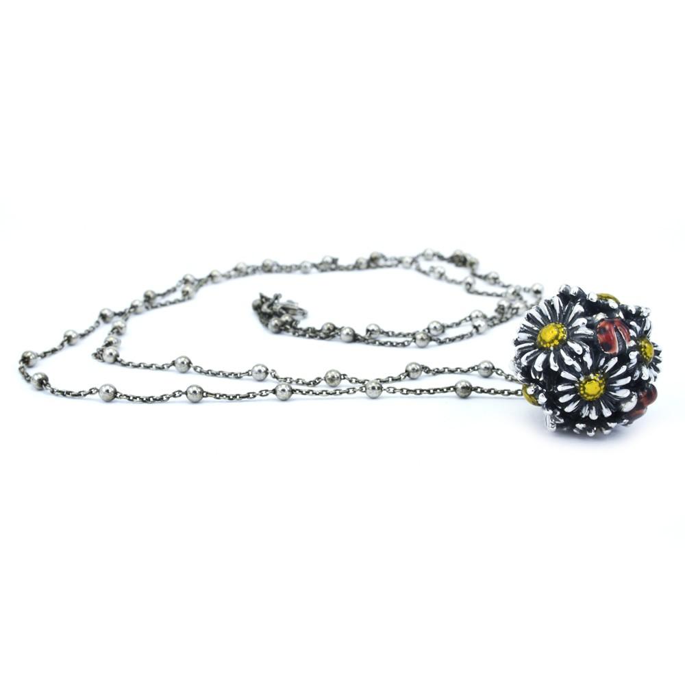 My Roseline Necklace cm 80 Happy Garden Pendant Enamelled Cod 20161003