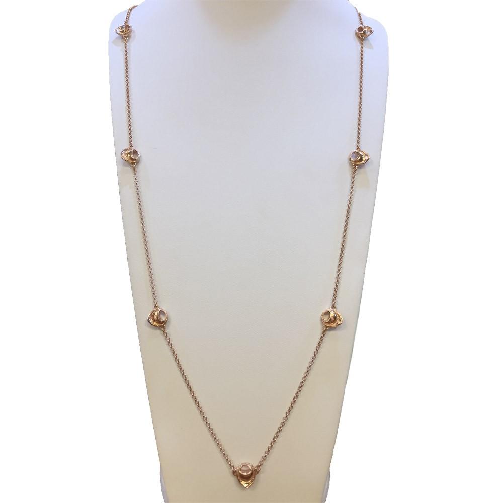 TortellinoArt Collana Argento Dorata Oro Rosa 90 cm
